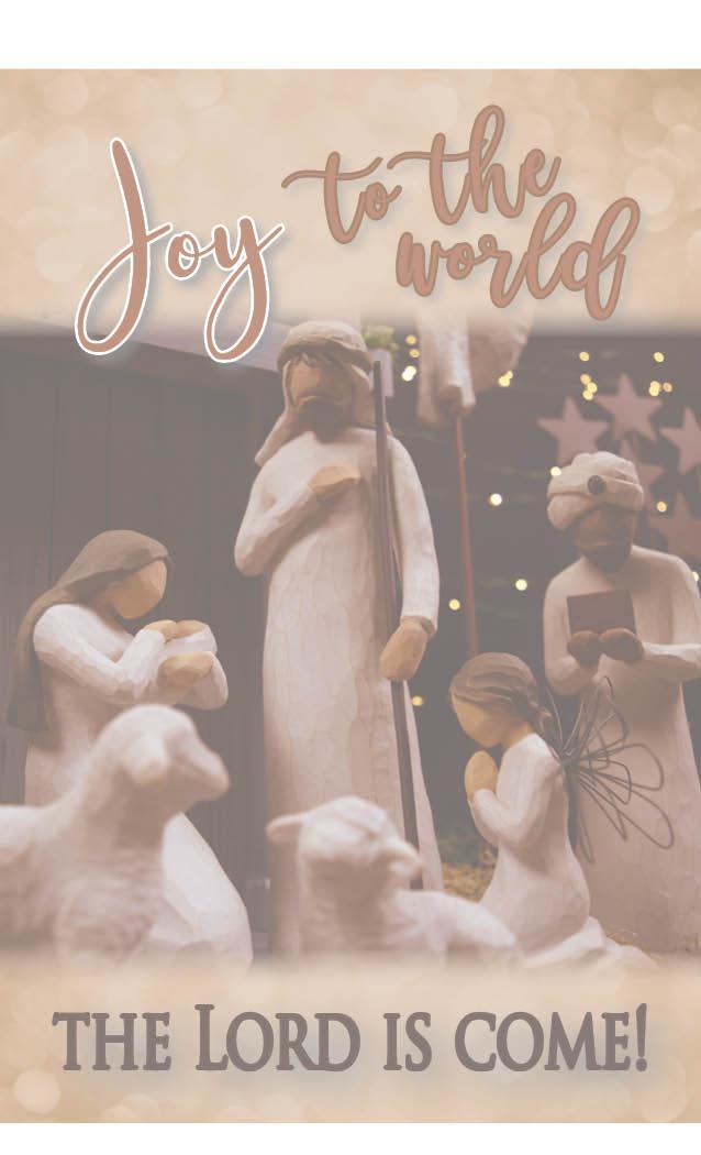 Joy to the World nativity scene