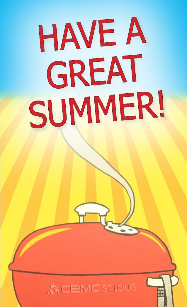 Happy Summer message over bbq grill